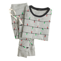 J.Crew Womens Pajama Set In Holiday Lights