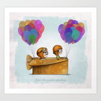 Love is the greatest adventure — UP Art Print by Ciara Panacchia