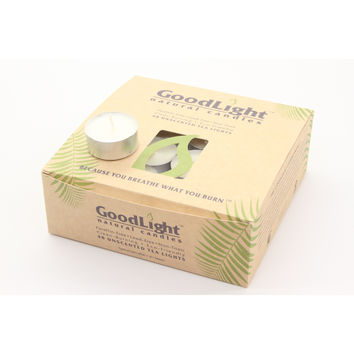 GoodLight Natural Tea Light Candles (48 Count) with Five Hour Burn Time and Non-Toxic Wax