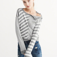 Womens Mix Stripe Sweater | Womens Tops | Abercrombie.com