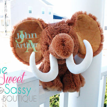 Personalized Mammoth stuffie