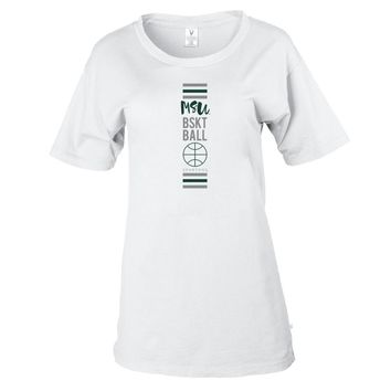 NCAA Michigan State Basketball MM19MCS2 Women's Stretchy Boyfriend Tee