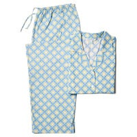 Devon Long Sleeve Pajamas, Blue/Green, Pajamas