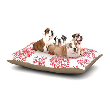 "Anchobee ""Coral"" Red White Dog Bed"