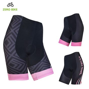 ZEROBIKE Women's Cycling Shorts 4D Padded Breathable Shockproof Tights Bicycle Clothing Summer MTB Bike Bermuda Ciclismo S-XL