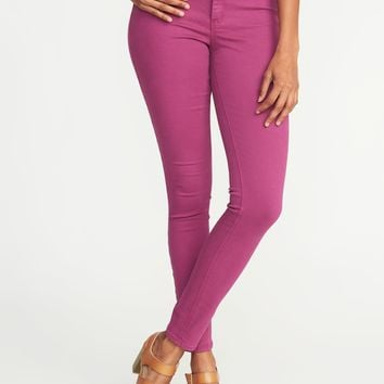 Mid-Rise Pop-Color Rockstar Super Skinny Jeans for Women |old-navy