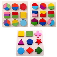 Kids Baby Wooden Toys Puzzle Learning Geometry Puzzles Baby Toy Educational Toys For Children Baby Montessori Toys