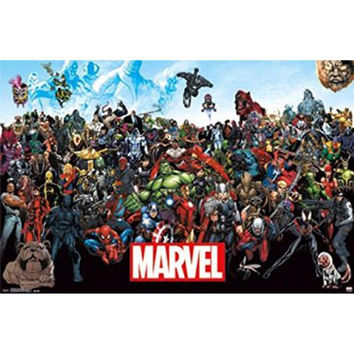 Marvel Heroes - The Lineup 15 22x34 Standard Wall Art Poster