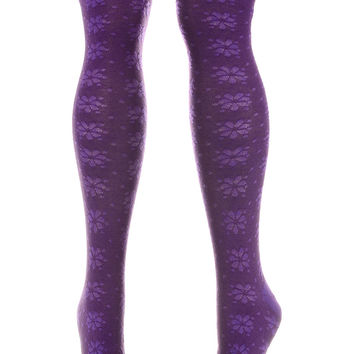 Violet Femme Over the Knee Socks