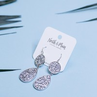 Hanson Drop Earrings, Silver