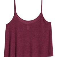 Ribbed Camisole Top - from H&M
