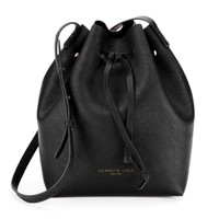 Dover Street Saffiano Leather Bucket Bag