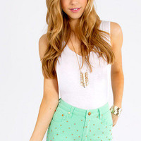 Mink Pink Cheeky Stud Shorts $78