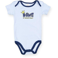 "Baby Boys' Onesuits ""King of Mommy's Heart"" - Sizes 0-12M"