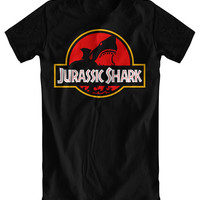 Jurassic Shark Black T-Shirt (women's sizes also available - please message)