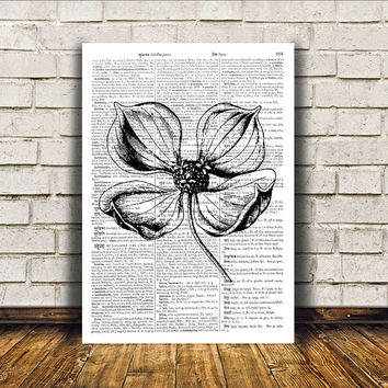 Nature art Flower poster Botanical print Wall decor RTA130