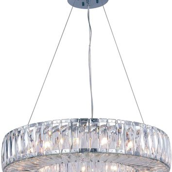 Cuvette 15-Light Chandelier, Chrome Finish, Clear Crystal, Royal Cut