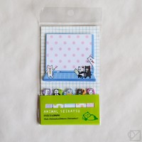 Animal Lifestyle Sticky Memo Set - Omoi Zakka Shop