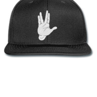 spock hand EMBROIDERY HAT  - Snapback Hat