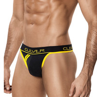 CLEVER Men's Standford Sporty Thong, Black