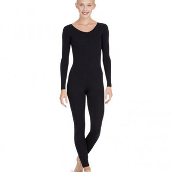 Adult Long Sleeve Unitard (Black)