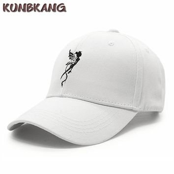 Trendy Winter Jacket New Fashion Angel Baseball Cap Women Girls Wing Embroidery Snapback Hat Bone Casquette Female Street Leisure Hip Hop Caps Gorras AT_92_12