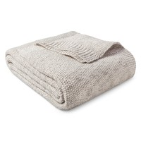 Sweater Knit Blanket Hot Coffee & Sour Cream (Twin) - Threshold™