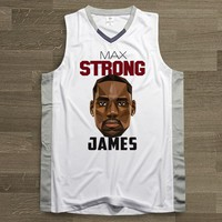 SYNSLOVEN design Men Basketball Jersey top Uniforms Cavaliers no.23 lebron james Sports clothing mesh Breathable plus size