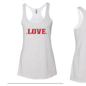Love Racerback flowy Tank Top // Racerback Workout Tank Top // Diamond Ring Tank Top // Wedding Tank Top // I love my Husband tank top