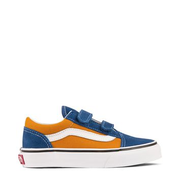 Vans Pop Old Skool V Kids - OG Blue/OG Gold