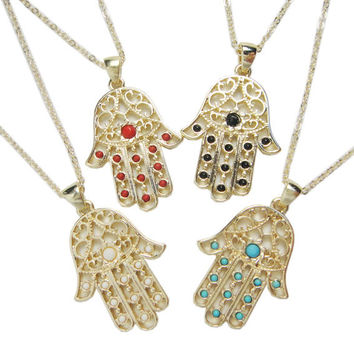 Christmas Thanksgiving Gift FATIMA Shiny Stylish Jewelry New Arrival Gift Necklace [8269882241]