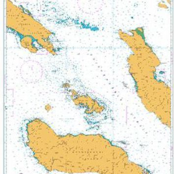 British Admiralty Nautical Chart 3997: South Pacific Ocean, Solomon Islands, Indispensable Strait