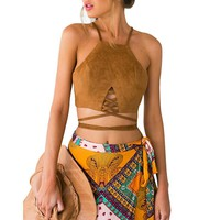 Hippie Crop Bustier Top