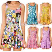Adventure Time Lumpy Space Princess Print Dresses For Women 2014 Summer Skater Dress punk Dress Novelty Vestidos Plus Size-in Dresses from Women's Clothing & Accessories on Aliexpress.com | Alibaba Group