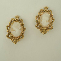 FLORENZA Cameo Clip On Earrings Maybe End of Day Jewelry
