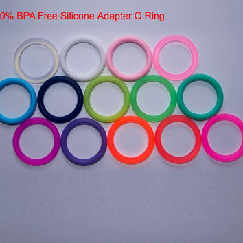 Free Shipping 100pcs Transparent BPA Free Silicone Baby Pacifier Adapter Holder O Rings MAM NUK Dummy Rings for Napkin