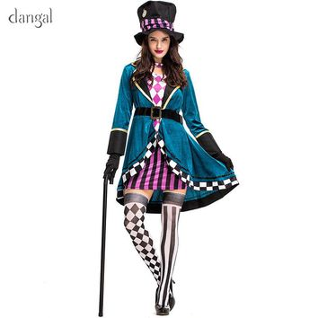 Dangal Cute Alice In Wonderland Trainer Costume Adult Halloween Costume Carnival Party Queen Costumes for Women Fantasia Cosplay