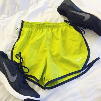 Lime Green Nike Tempo Shorts