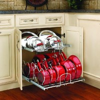"Rev-A-Shelf - 5CW2-2122-CR - 21"" Two-Tier Cookware Organizer"