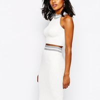 River Island Premium Knit Crop Top