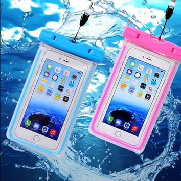 Luxury WaterProof Phone Cases For Huawei P10 P9 P8 Nova Lite iphone SE 5s 6 6s 7 Plus Samsung S6 S7 Edge Pouch Underwater Cover