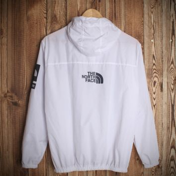 Solid Color White Lightweight Jacket Hooded Outwear