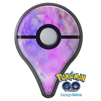 Washed Purple Absorbed Watercolor Texture Pokémon GO Plus Vinyl Protective Decal Skin Kit