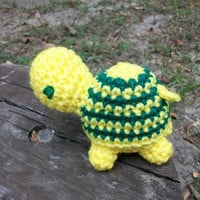 Terry Turtle Plush Toy - Amigurumi-style Crochet - Stuffed Soft Toy Turtle