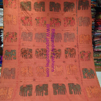 AppliqueKantha Quilt Textile Nakshi Quilted/ Embroidery Bed coverSari Kantha Quilt Patchwork Throw Ralli Gudari Bedcover