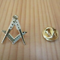 Compass And Square Hollow Out Masonic Lapel Pin