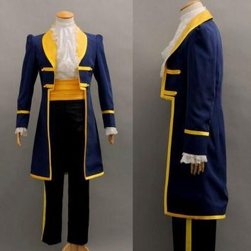Cool Prince beast costume beauty and the beast costume cosplay fantasy halloween costumes for men costumeAT_93_12