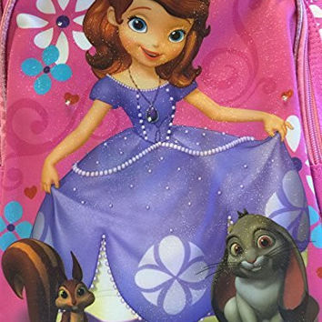 Disney Princess Sofia The First Backpack/Lunchbox School Bundle w/24 School Supplies