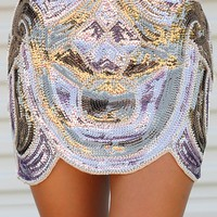 Sparkly In Sequins Skirt: Multi