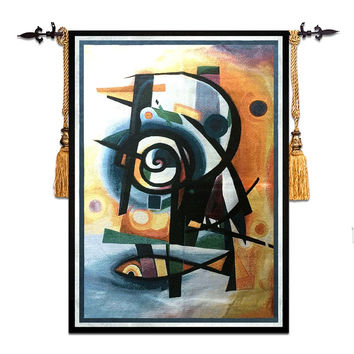 58*79cm Mediterranean style home art decor abstract fish wall carpet picture hanging tapestry RS-17